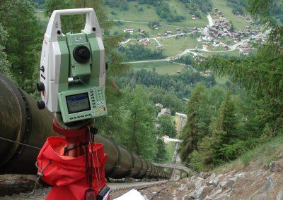 Conduite forcée de Biolec :surveillance géodésique