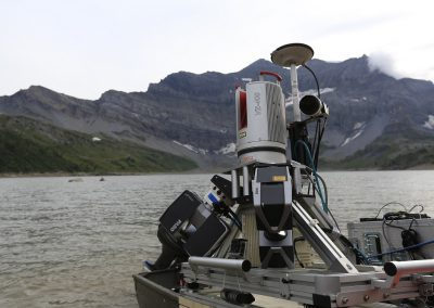 Barrage de Salanfe : Mesures laserscann mobile