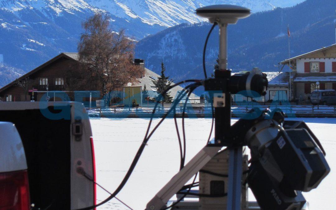 Crans-Montana: Scannage 3D du Parking Victoria